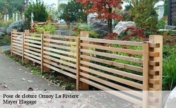 Pose de cloture  ormoy-la-riviere-91150